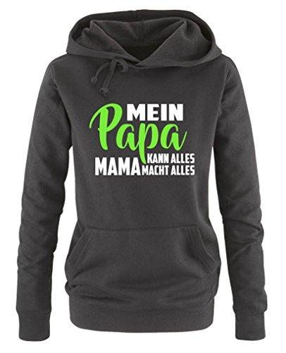 Lunga neongrün Comedy Weiss Schwarz Manica Cappuccio Felpa Shirts Con Donna qBq7Zx
