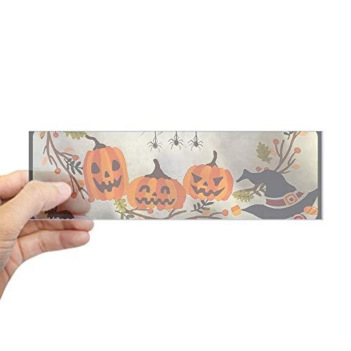 (CafePress Three Little Jack-O-Lanterns Bumper Sticker 10