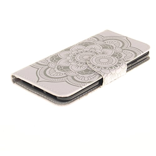 iPhone-7-iPhone-8-Case-Urvoix-Card-Holder-Stand-Leather-Wallet-Case-White-Flower-Flip-Cover-for-47-iPhone-7-iPhone-8-NOT-for-7Plus