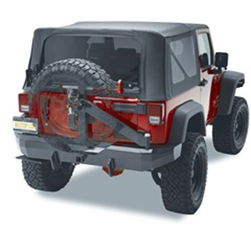 - Bestop 44934-01 HighRock 4x4 Matte Black Rear Bumper with Integrated Tire Carrier for 2007-2018 Wrangler 2-Door & 4-Door