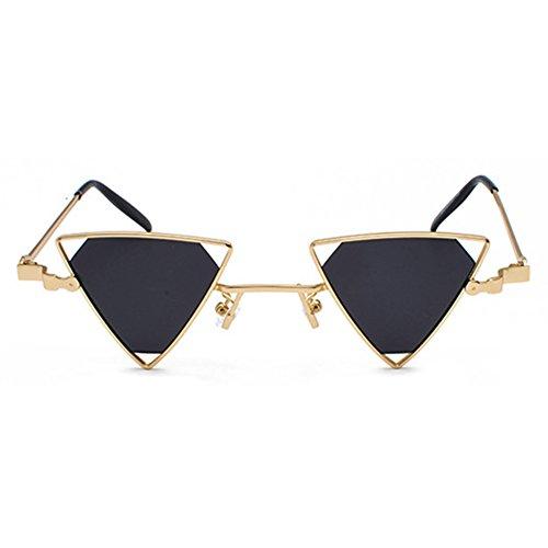 Style Lunettes Mode Femmes Cool Triangle de C4 Hommes Métal Creux Steampunk soleil lunettes juqilu Out 1xwqESZTq