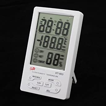 Digital Temperature And Humidity Alarm Clock And Calendar KT903 With Large LCD Screen Easy To Operation 100%