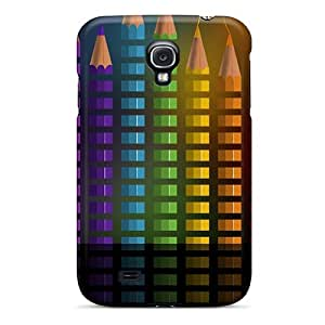 Browncases Fashionable PVBV-1549-IT Rainbow Pencils Case Cover Skin For Galaxy S4