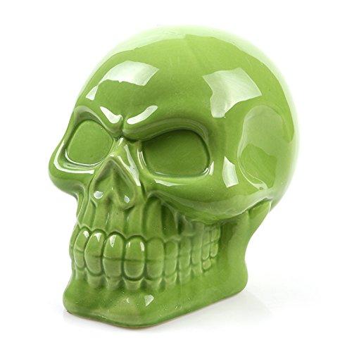 MonkeyJack Gothic Money Saving Box Skull Piggy Bank Cash Case Novelty Party Favor-Green by MonkeyJack