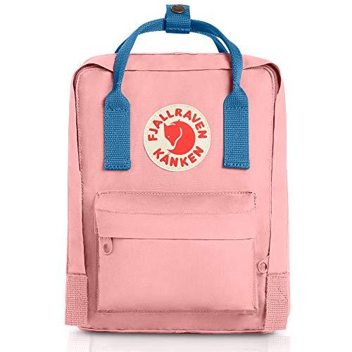 Fjallraven - Kanken Mini Classic Backpack for Everyday, Pink/Air Blue