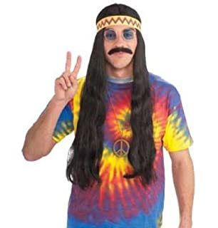 Hippie Dude Wig with Headband Costume Accessory