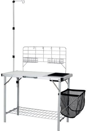 Amazon Com Ozark Trail Portable Camp Kitchen And Sink Table With Lantern Pole Kitchen Dining