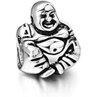 925 Silver Charms Vintage Buddha Lucky Bead For Women European Sterling Bracelet
