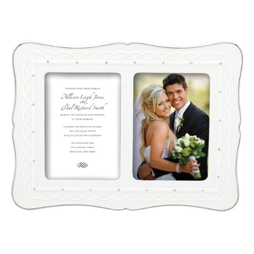 Lenox Bliss Double Invitation Frame, 5 by 7-Inch