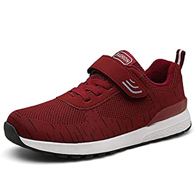 Hotaden Sneakers for Men Athletic Shoes Casual Breathable Walking Shoes Fashion Running Tennis Blade Trainer Red Size: 5