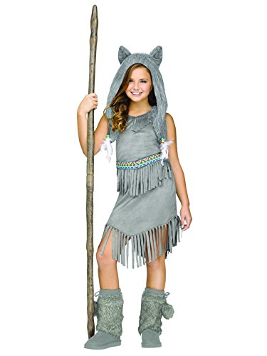 Fun World 124582M Little Girl's Med/Wolf Dancer Children's Costume, Medium, Multicolor ()
