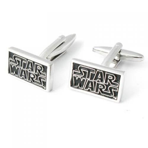 Cufflinks - SODIAL(R)Men's shirt button Rectangle Cuff Links Stainless Steel established Star Wars Black