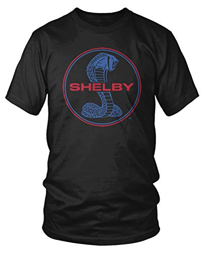Amdesco Men's Shelby Cobra Emblem T-Shirt, Black Large