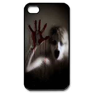 DIY Bloody Hand Iphone 4,4S Phone Case, Bloody Hand Customized Hard Back Case for iPhone 4, iPhone 4s at Lzzcase