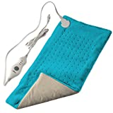 "XL King Size Electric Fast-Heating Machine-Washable Pad Therapy Wrap for Body Pain | Auto Shut-Off | Extra Large Dry Heat Pad | Plush Hot Pad for Back/Neck/Shoulder Pain Relief (12"" x 24"")"