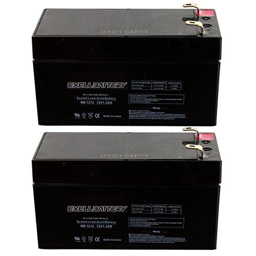2pc 12V 1.3Ah SLA Battery EB1213 for WKA12-1.3F, UB1213, D5738 Many Uses Alarm System, fire Alarm, Burglar Alarm, UPS Backup Battery, Smoke Detector, exit Signs, inverters, Lighting, Signage, Toys