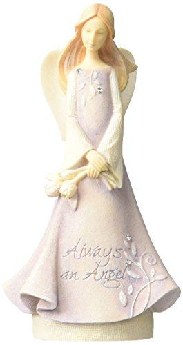 "(Foundations Mini Angel of Friends Stone Resin Figurine, 4.5"")"