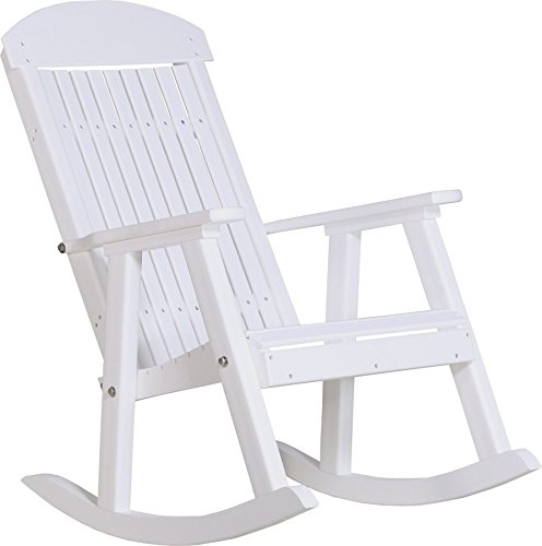 Outdoor Poly PORCH ROCKER-White Color