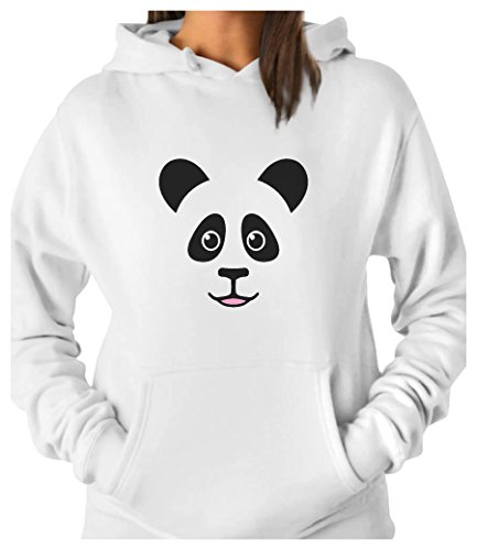 TeeStars - Cute Panda Bear Face - Best Gift for Panda Lovers Women Hoodie Medium White (Save The Animals Merchandise compare prices)