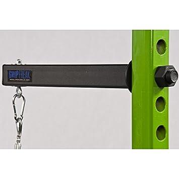 Grip Freak Slip Grips Grip Strengthener w Power Rack Arm Weight Plate Loader