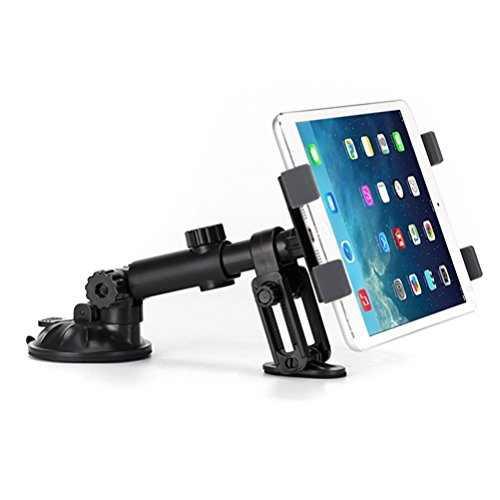 Mirror Pad Suction (Premium Car Mount Dash Holder Swivel Cradle Dashboard Dock Strong Suction Compatible with iPad Pro 10.5 - Lenovo Moto Tab (10.1) - LG G Pad F2 (8.0) - ZTE ZPad 8)