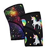 Product review for Liberte Lifestyles 5mm Reversible Unicorn Galaxy Print Knee Sleeves (Pair)