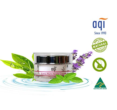 AQI Face moisturizer Night Cream for Dry Skin with Sodium Hyaluronate Anti Aging & Anti Wrinkle Face Moisturizer Hydrating Paraben & Sulfate Free Nourishing Repair Cream for Men & Women 1.7 fl oz