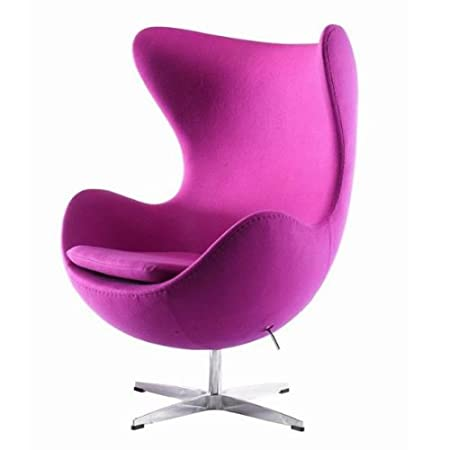 Good UKA073P  Luxurious Arne Jacobsen Style Egg Chair Pink Cashmere Wool Fabric