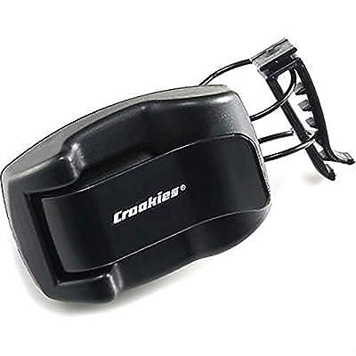 Croakies Shade Dock Car Sunglass and Eyeglass Automobile Shade Visor Clip, Black (2 Pack): Automotive