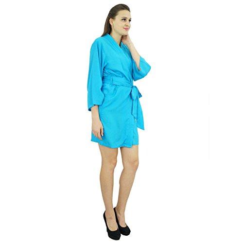 Bimba -  Accappatoio  - Maniche a 3/4 - Donna blu 58