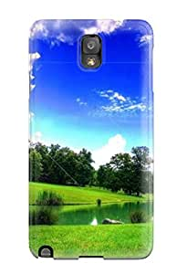 KTQ5KW20I2Y152KZ New Snap-on Skin Case Cover Compatible With Galaxy Note 3- Artistic High Quality Green Landscape