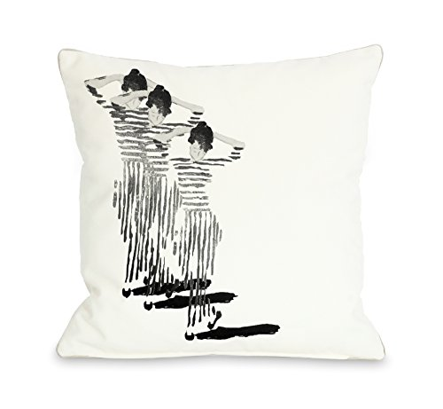 One Bella Casa Tres Chic Throw Pillow w/Zipper by OBC, 18