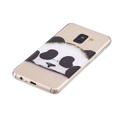 Cover para Samsung Galaxy A8 2018 / SM-A530 , WenJie Transparente Accesorios Regalo TPU Regalo elegante y duradero suave Silicona Suave Funda Case Tapa Caso Parachoques Carcasa Cubierta para Samsung G