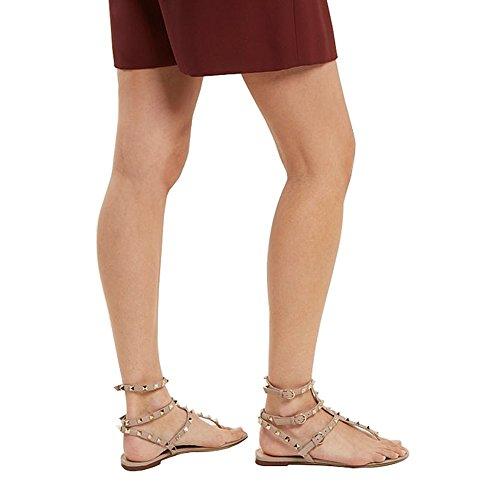 Appartements Féminine d'été Confort Cloutés Strap Beige Lutalica Chaussures Sandale T Occasionnels Mode p88q50