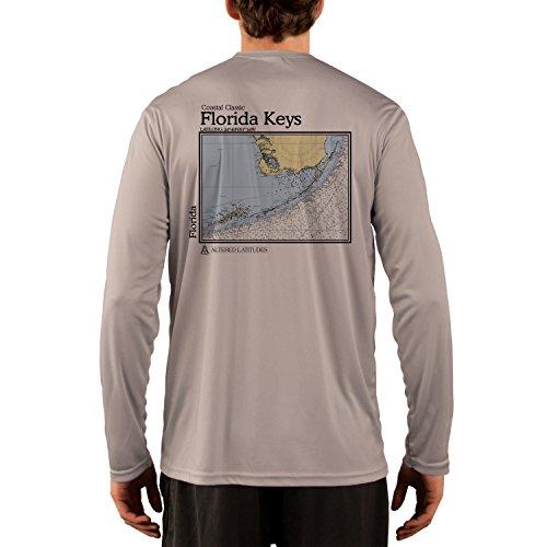 Coastal Classics Florida Keys Chart Men's UPF 50+ Long Sleeve T-shirt XXX-Large Athletic (Florida Keys Water)