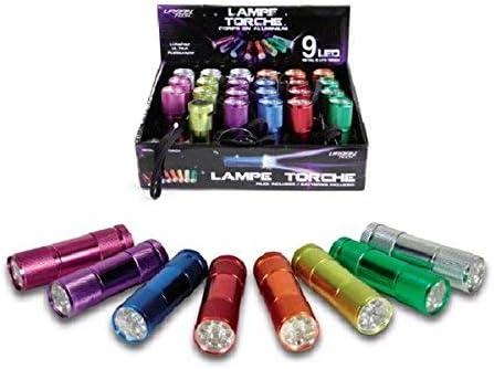3 Piles LR03 Noir CMP 592295 Lampe avec Torche 9 LEDs
