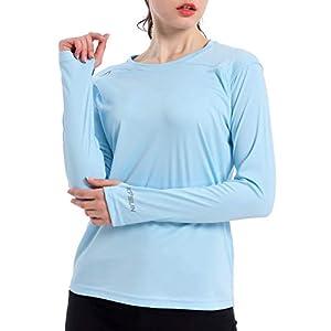 Women's UPF 50+ UV Sun Protection Shirt Outdoor Performance Long Sleeve Rash Guard Shirts for Hiking,Swim,Fishing