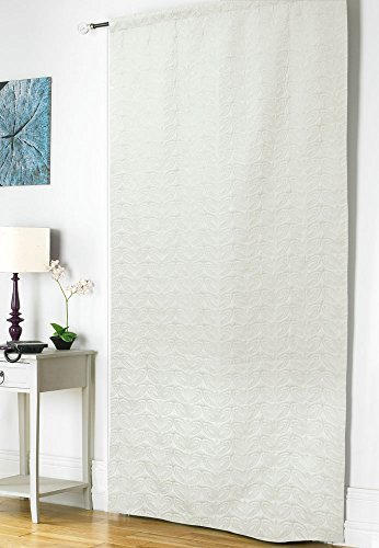 Embossed Thermal Door Curtain Panel Energy Saving Draught Draft Heat Loss 5 Colours Stone