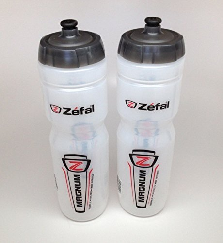 ZEFAL Magnum Bike Bicycle Clear Water Bottle 33oz 2-Pack by Zefal