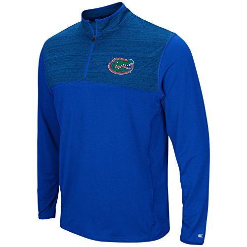 Colosseum Men's NCAA-Big and Tall Sizes-1/4 Zip Pullover Windshirt-Florida Gators-Blue-3XL Big