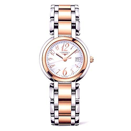 Longines L81125836 - Reloj de cuarzo para mujer, correa de acero inoxidable chapado en oro