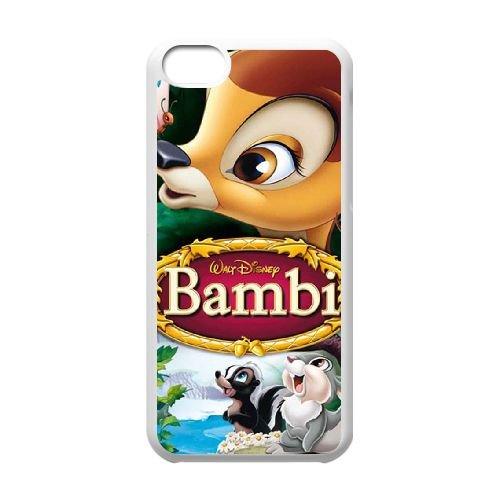 Bambi coque iPhone 5C Housse Blanc téléphone portable couverture de cas coque EBDOBCKCO10633