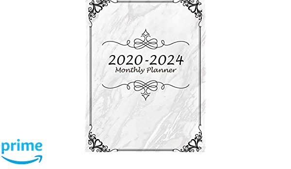 2020-2024 Monthly Planner: Classic Marble, 60 Months ...
