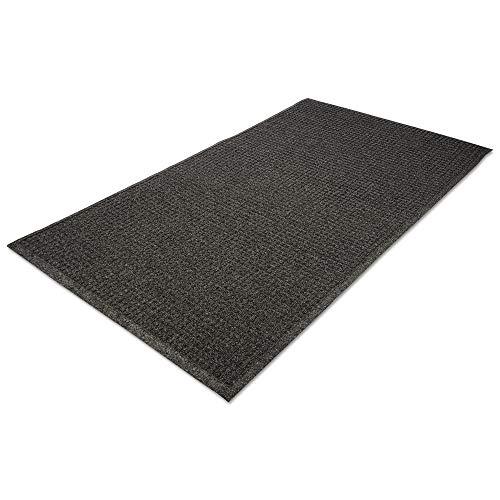 Mat Scraper Indoor Wiper (Guardian EcoGuard Indoor Wiper Floor Mat, Recycled Plastic and Rubber, 4' x 6', Charcoal)