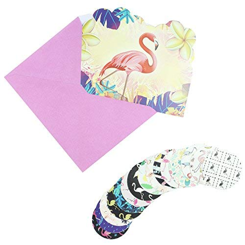 You Are Invited Cards, Flamingo Invitation Cards With Pink Envelops and Flamingo Seal Sticker For Baby Shower Invites, RSVP Cards for Wedding, Party Invitations, Birthday Invites, 22pcs