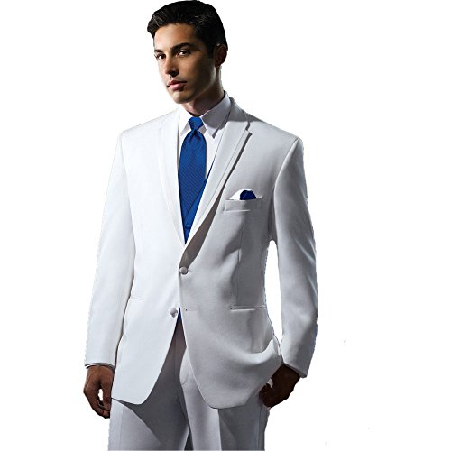 MYS Men's Custom Made Bridegroom Wedding Tuxedo Suit Pants Vest Tie Set White Strada Tailored by MY'S