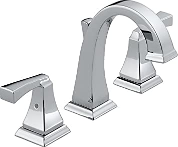 Delta 3551LF Dryden 2-Handle Widespread Bathroom Faucet with Metal ...