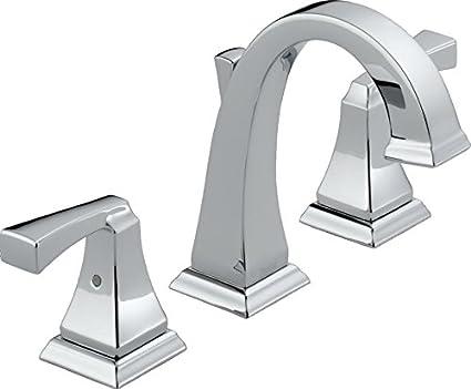 Delta 3551LF Dryden 2-Handle Widespread Bathroom Faucet with Metal ...