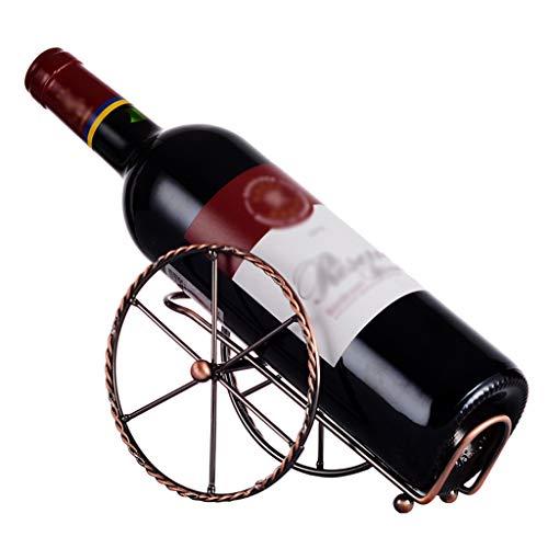 Nosterappou Decoración de racks de vinos para restaurantes, porta botella retro creativo para el diseño de ruedas,...