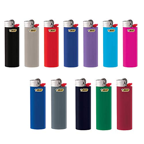 BIC Lighter Classic, Full Size 12 pieces, Bulk Packaging made in New England